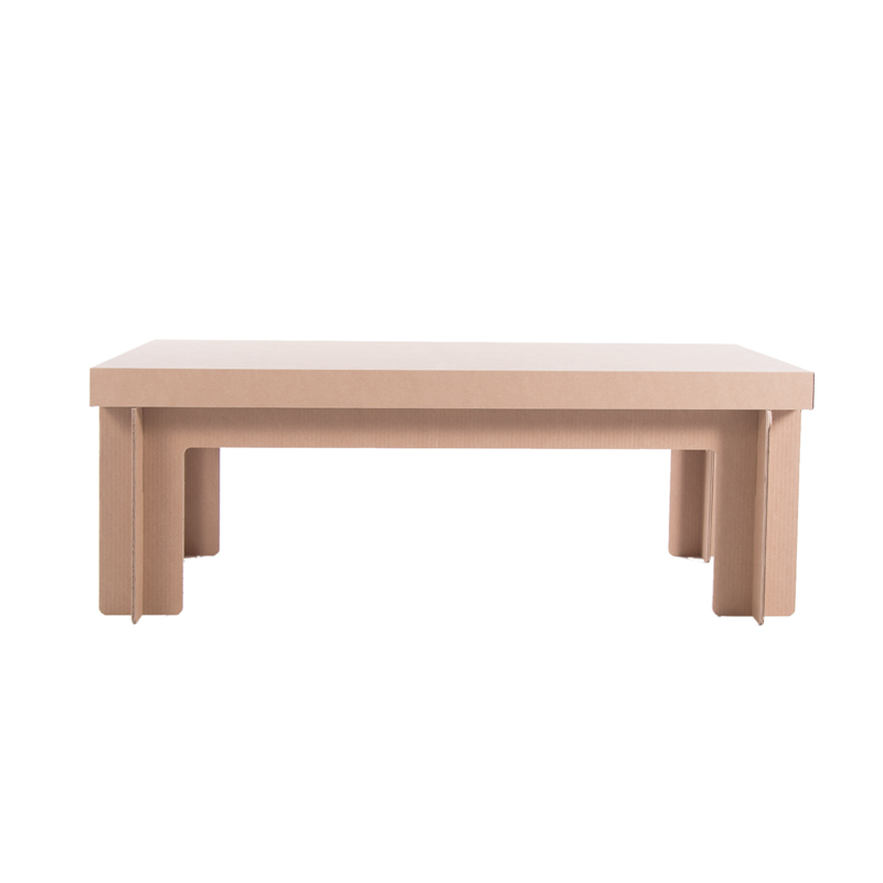 mesa rectangular auxiliar carton lateral