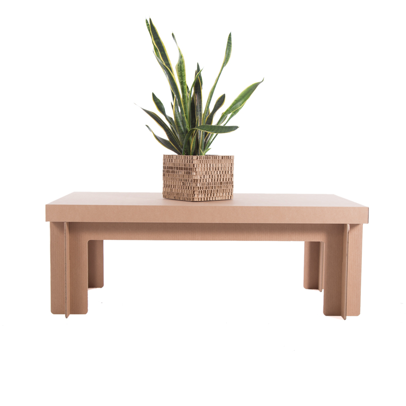 mesa rectangular baja carton lateral