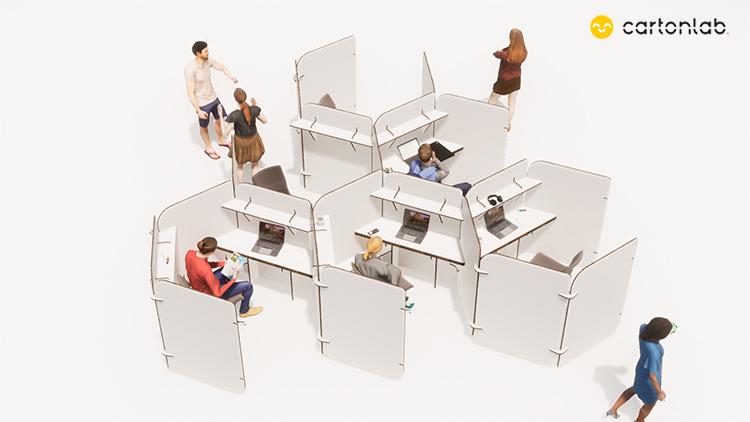 mamparas separadores oficina barrios nucleos