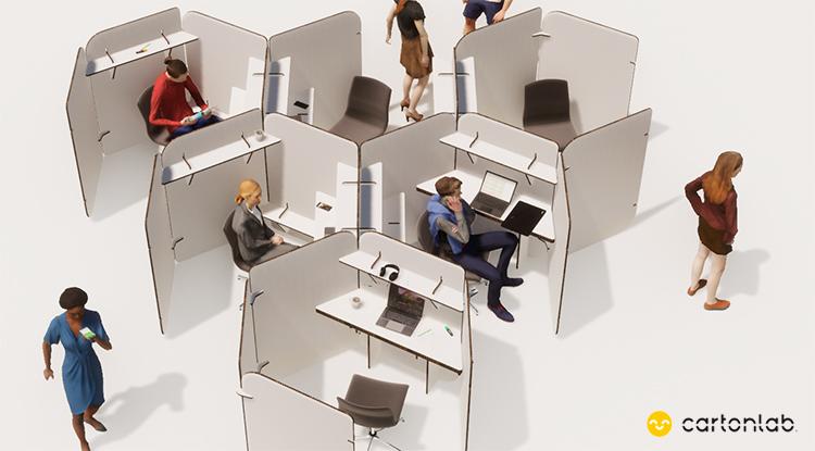 separador mampara cubiculo oficinas