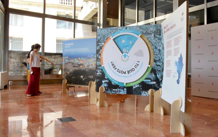expobike Paneles interactivos de exposición en cartón