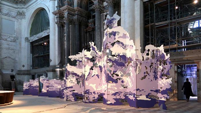 Biombo de gran formato en Venecia