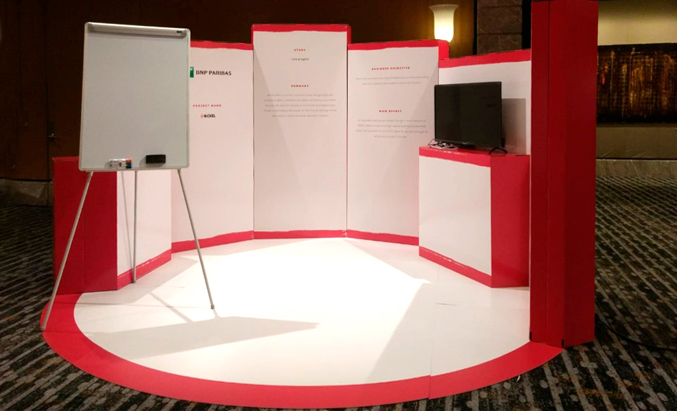 Diseño stand para hoteles evento BNP
