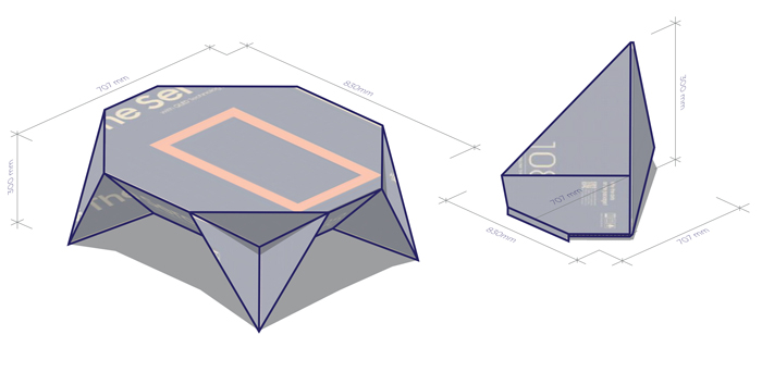 Concurso de ideas para packaging, medidas Tatami.