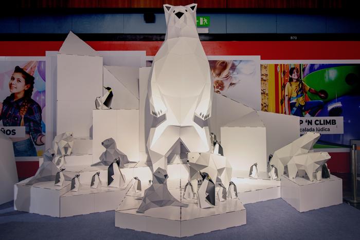 Animales para decoración navideña ecológica para centros comerciales