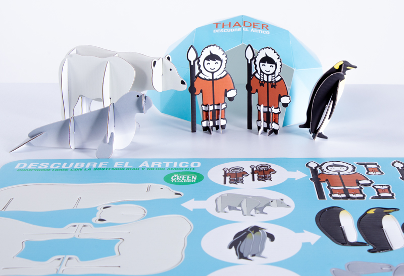 Esquimales y animales polares para decoración navideña