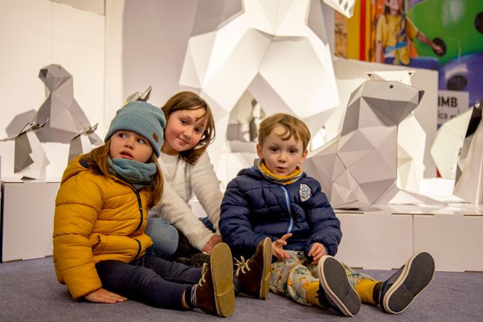 kids playground design in cardboard