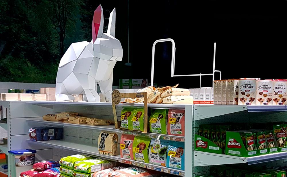 Muebles para tienda ecológica. Conejo.