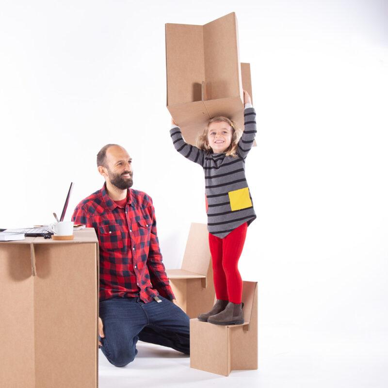 Juego con kit muebles plegables