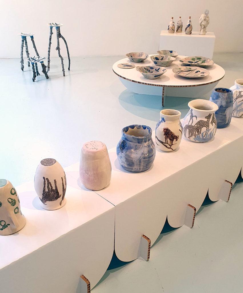 Soportes expositivos de las piezas cerámicas