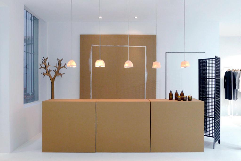 Muebles para tienda ecológica. Composición modular.