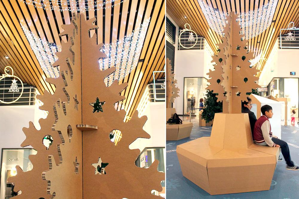Árbol banco de Navidad ecológico