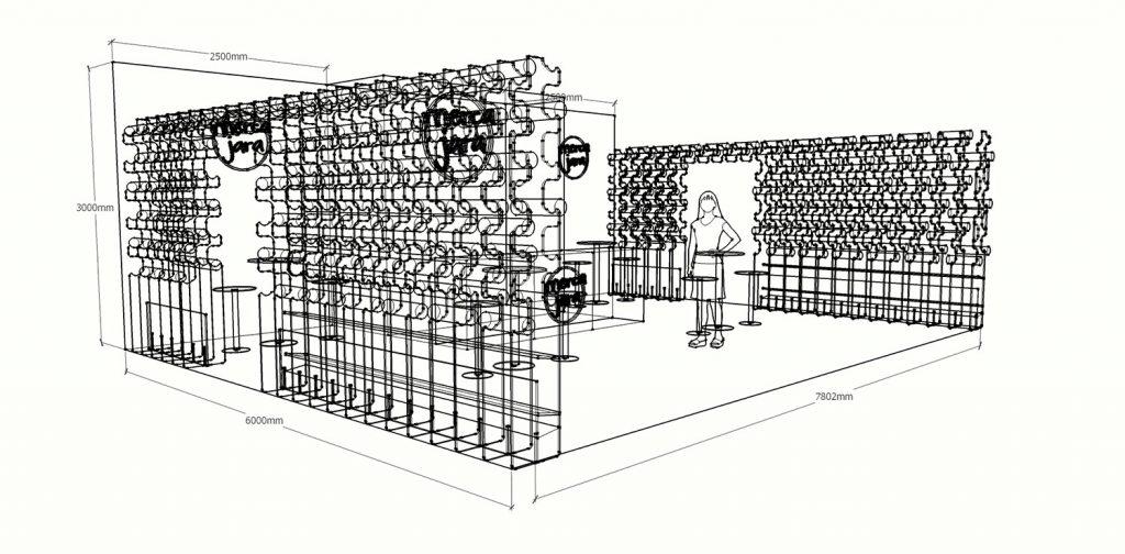 Diseño de stand para Mercajara en Fruit Attraction